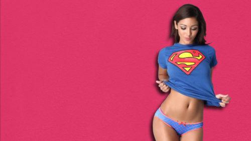 девушка, супермен, супер герой,