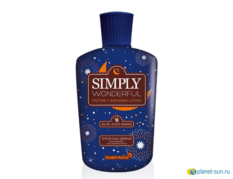 Крем-ускоритель, Simply Wonderful Factor 4, для загара, крем для загара, Tannymax, купить, СПб, 200мл